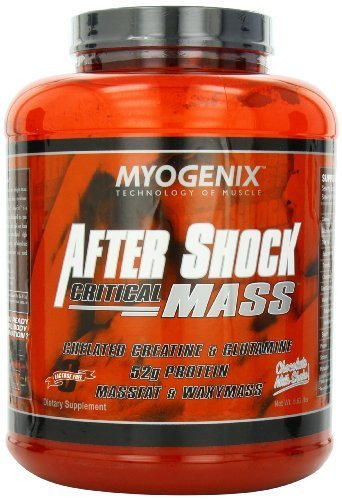 Myogenix After Shock Critical Mass, Chocolate Milkshake, 5.62 Pounds by Myogenix (Muscle Building Milkshake)
