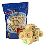 100 Medium Wood Dreidels - Classic Chanukah Spinning Draidel Game, Gift and Prize - Bulk Value Pack - By Izzy 'n' Dizzy