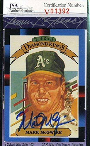 (MARK MCGWIRE 1988 DONRUSS JSA Coa Autograph Authentic Hand Signed)