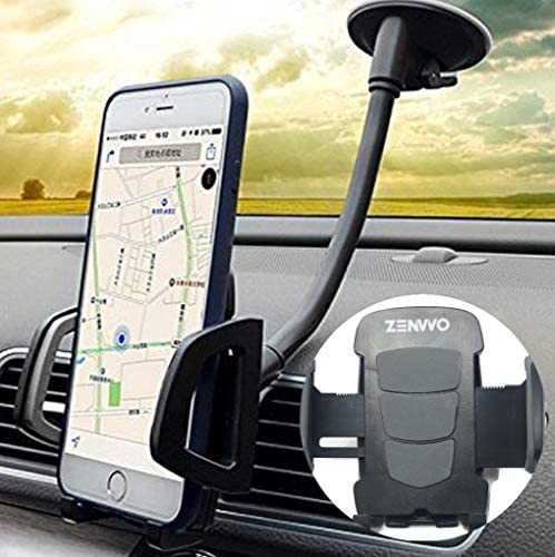 Car Phone Holder, ZENVVO 3-in-1 Universal Phone Holder for Air Vent, Dashboard and Windshield Mount/Compatible with iPhones/Note/Galaxy/Google and More