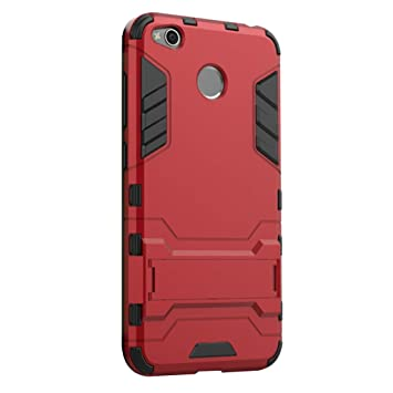 XiaoMi RedMi 4X Funda - Doble Capas Cáscara Silicona Híbrida Protectora Heavy Duty Blindaje Dura Cubierta Posterior con Soporte para XiaoMi RedMi 4X - ...