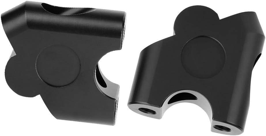 Black KSTE 22mm Universal Motorcycle Handle Bar Riser Handlebar Clamp Back Move Mount Adapter