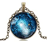 2018 New Fashion Charming Blue Color Milky Way Necklace Galaxy Choker Necklace