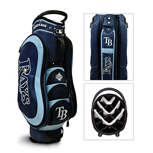 - MLB Tampa Bay Rays Medalist Cart Golf Bag, Navy