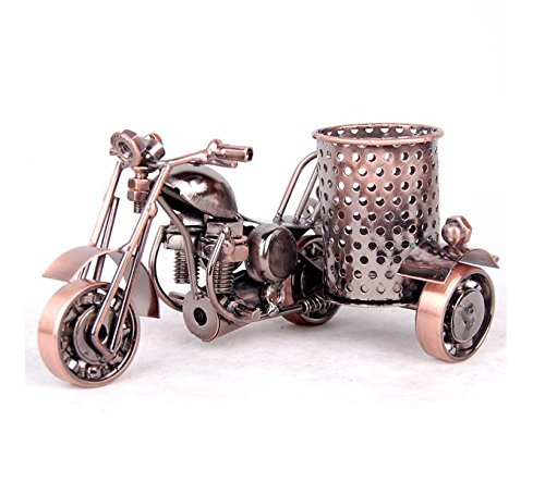 Creative office desktop accessories,Harley Davidson motorcycle model metal pen holder,Desktop Office Decor Gift (Bronze) by Unknown