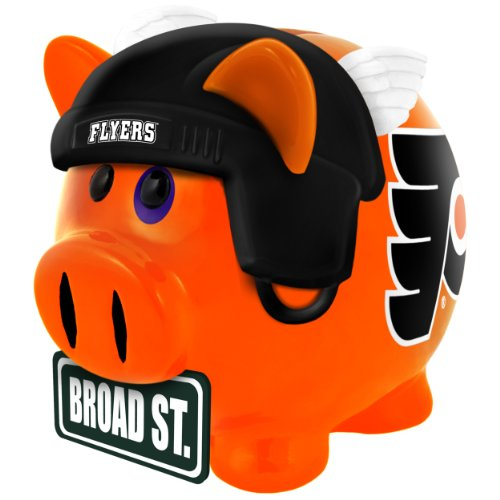 NHL Philadelphia Flyers Resin Large Thematic Piggy (Nhl Flyer)