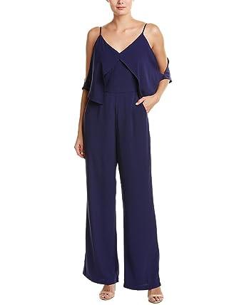 bd74f6e2663f Amazon.com  Adelyn Rae Women s Yvette Jumpsuit Midnight Jumpsuit ...