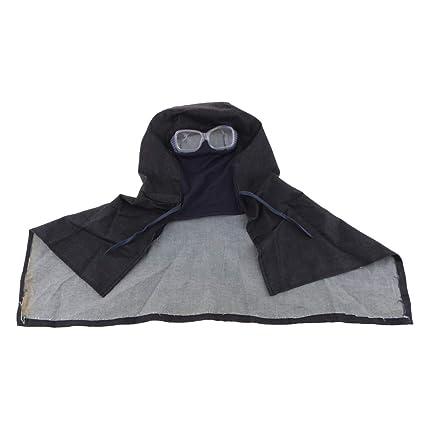 perfeclan Cubierta Protectora para Polvo de Alta Calidad Cabeza Protección para Cuello Soldador Sombrero con Gafas