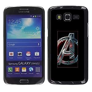 Caucho caso de Shell duro de la cubierta de accesorios de protección BY RAYDREAMMM - Samsung Galaxy Grand 2 - Futurista Un Inicial