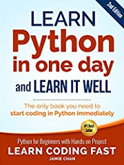 (2nd Edition: Covers Object Oriented Programming) Learn Python Fast and Learn It Well. Master Python Programming with a unique Hands-On ProjectHave you always wanted to learn computer programming but are afraid it'll be too difficult for you?...