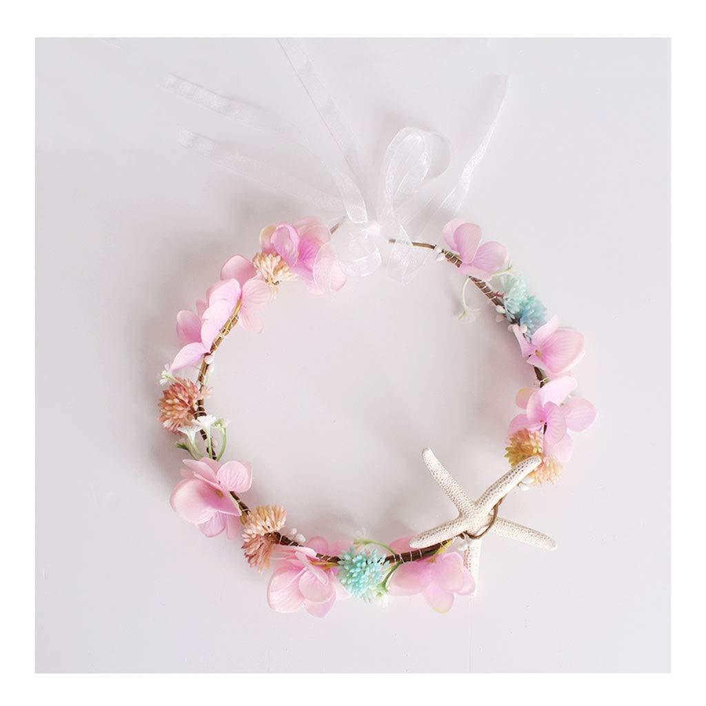 Wreath Flower Headwear Children's Jewelry Wearing Korean Flower Girl Hair Accessories Performance Accessories (Color : C)