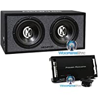 pkg Memphis 15-PRXE12D 12 600W RMS 1200W Max Enclosed Subwoofers with Power Acoustik RZ1-1500D Monoblock 1500W Max Class D RAZOR Series Full Range Amplifier