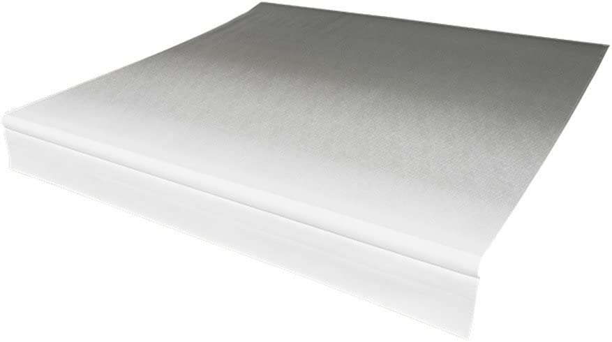 Solera Universal Fit Heavy-Duty Vinyl RV Patio Awning Replacement Fabric Sand Fade White when Closed 194 Fabric 20 Awning