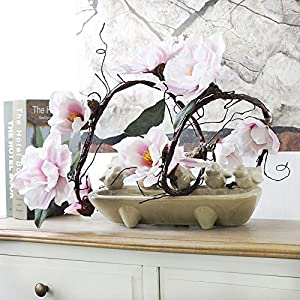 ShineBear 185cm Nylon Artificial Flower Azaleas Magnolia Artificial Branches White Cuckoos Long stem Arbitrary Bending Silk Flower Decor 46