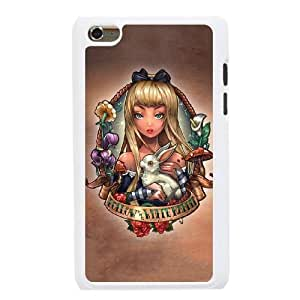 The best gift for Halloween and Christmas iPod 4 Case White Alice follow the white rabbit WYW8598468