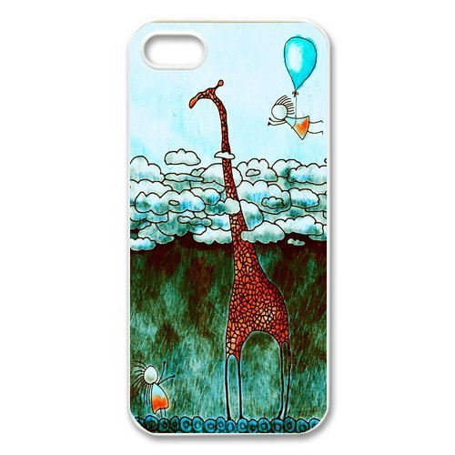 iphone 5 Case/iphone 5s Covers Hard Back Protective-Unique Design Cute Giraffe Sunglasses Printed Case Perfect as Christmas - Glasses August Alsina