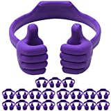 Cell Phone Tablet Stands (20 Packs): Honsky Thumbs-up Cellphone Holder, Tablet Display Stand, Mobile Smartphone Mount Cradle for Desk Desktop - Universal, Multi-Angle, Cute, Purple