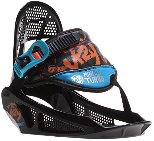 K2 Mini Turbo Snowboard Bindings Black Youth Sz S (2-5) - Kids Snowboard Binding
