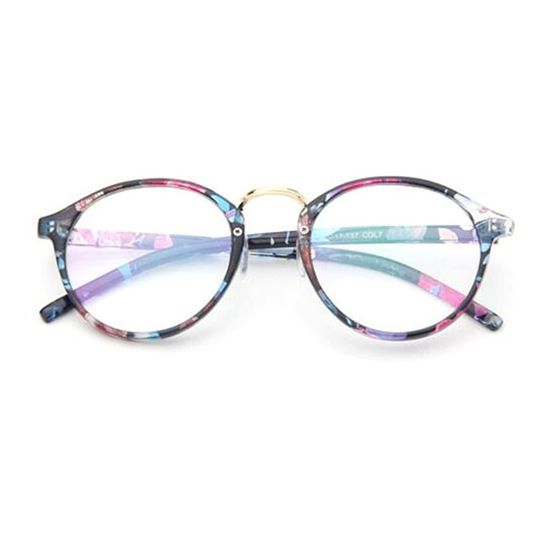Aiweijia Vintage Inspired Eyeglass Small Nails Occhiali da vista rotondi con lenti in metallo Qb3msLje