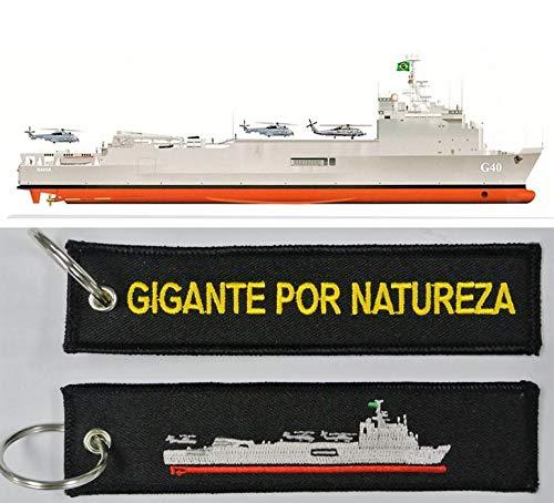 Chaveiro Bordado Do Navio Bahia