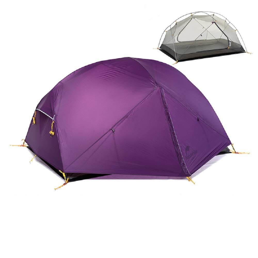 2人NH17T007-M用Mongar 3シーズンキャンプのテント20DナイロンFabic二重層防水テント B07C8HV5GS 紫の 紫の B07C8HV5GS, イタヤナギマチ:c97b849e --- ijpba.info