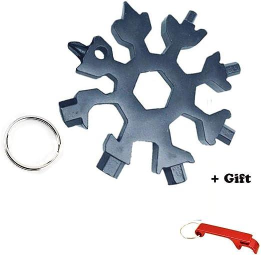 Multi-tool Stainless Snowflake EDC Keychain Tool Screwdriver Bottle Opener 20in1