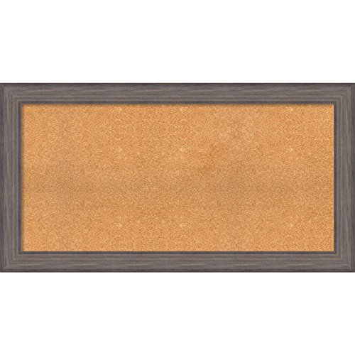 Framed Cork Board, Choose Your Custom Size, Country Barnwood Wood by Amanti Art