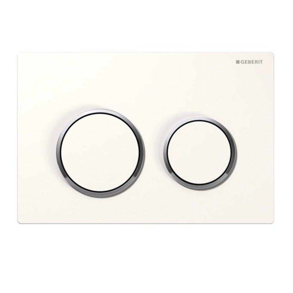 ss472 geberit omega 20 bet tigungsplatte 1 st ck wei hochglanz verchromt 1 ebay. Black Bedroom Furniture Sets. Home Design Ideas