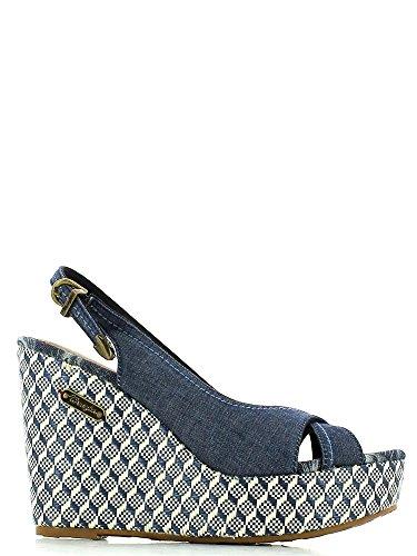 Wrangler - Sandalias de vestir para mujer DK.Blue/Chambray 4 UK