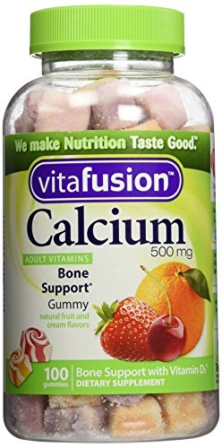 Vitafusion Gummies Calcium with Vitamin D3, 100 Count, Pack of 2