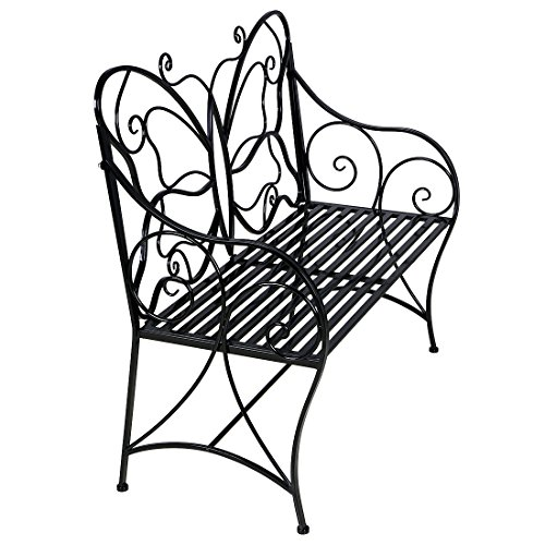 Hlc Metal Antique Garden Bench Outdoor Double Seat With