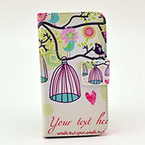 High Quality Fashion Flip Wallet Painted Leather Stand Case Cover For IPhone 4S