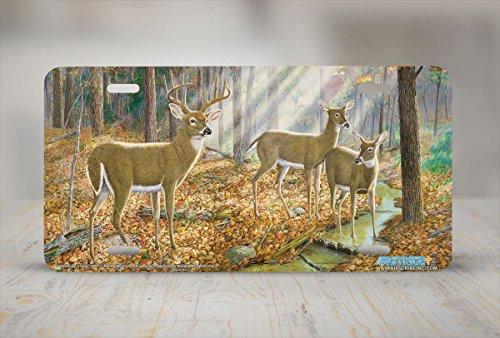 Saved by a Twig - Deer Wildlife Art Print - License Plate by Randy McGovern from Airstrike, Inc. (Twig Deer)