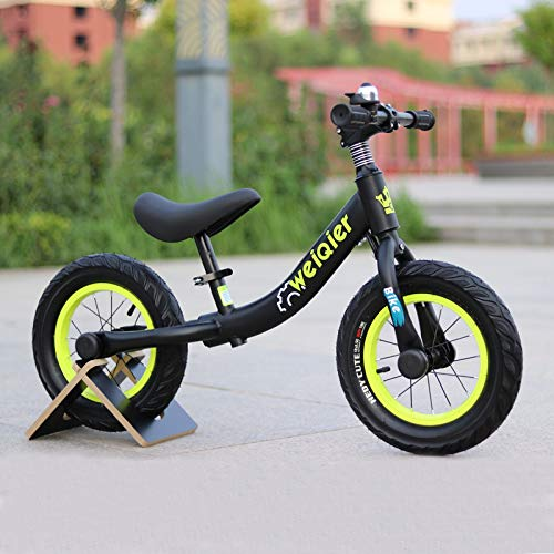 New Children Two Wheel Balance Bike Scooter Baby Walker Bike No Foot Pedal Riding Toys Kids Bicycle Portable Baby Walker,Black