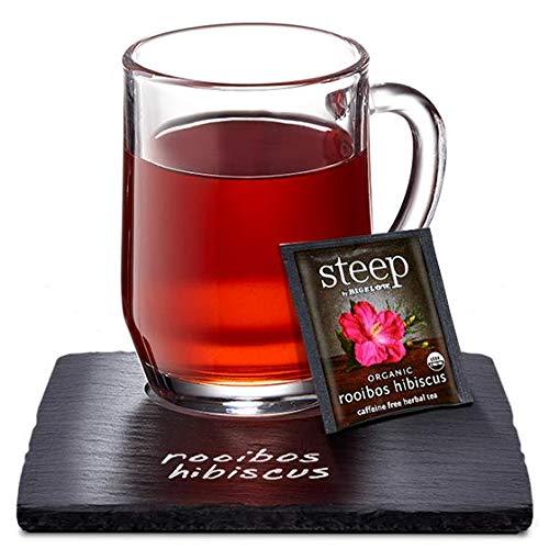 Steep by Bigelow Organic Rooibos Hibiscus Caffeine Free Herbal Tea, 20 Count (Pack of 6), 120 Tea Bags Total