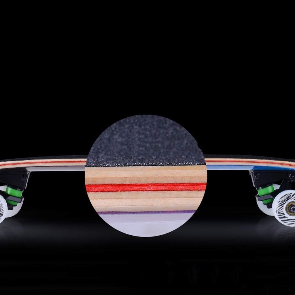 ZFFSC Scooter Anfänger Erwachsene Maple Skateboard-Jungen-Mädchen-Tanz-Vorstand Jugendberuf Vier-Rad-Scooter Skateboard Skateboard Shoes (Color : G) B
