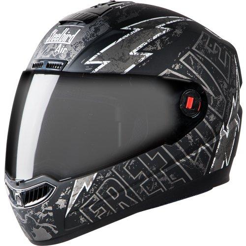 Matt Black with Grey Steelbird SBA-1 Helmet with Plain Visor