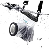 Zonman DSLR Camera Univeral Waterproof Underwater Housing Case Pouch Bag for Canon Nikon Sony Pentax Brand Digital SLR Cameras (Transparent)