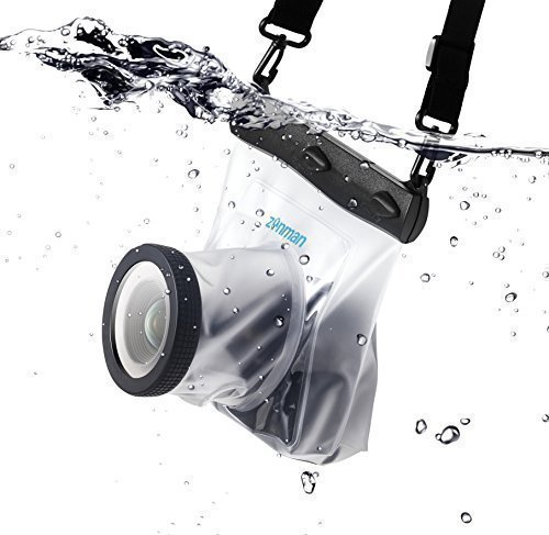 Zonman DSLR Camera Univeral Waterproof Underwater Housing Case Pouch Dry Bag for Canon Nikon Sony Pentax - Camera Case Housing