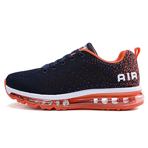 Sneakers Orange Ginnastica Running Fitness Donna Scarpe Air Blue all'Aperto Sportive Corsa da Basse Interior Uomo Casual xWazgZwqpq