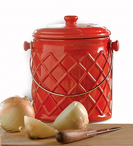 1 Gallon Lattice Ceramic Compost Crock Buy Online In Guernsey At Desertcart