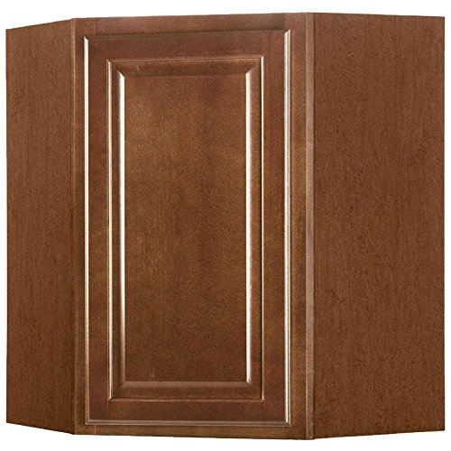 American Classics 24 in. Cognac Maple Kitchen Wall Diagonal Cabinet