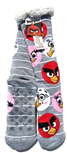 Angry Birds Faux Fur Slipper Socks Size 4-10