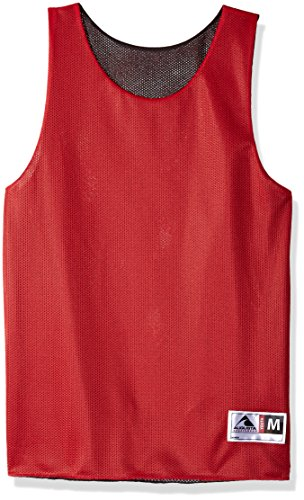 (Augusta Sportswear Teen-Boys Youth Reversible Mini Mesh League Tank, Red/Black, Large)