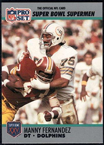 Football NFL 1990-91 Pro Set Super Bowl 160 #83 Manny Fernandez NM-MT ()