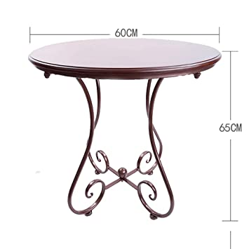 Amazon.com: Zcx Solid Wood Small Round Table, European ...