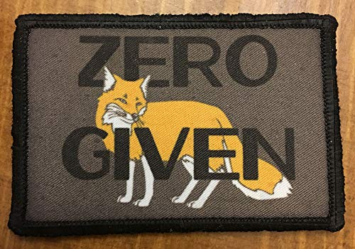 IM Amelia Zero Fox to Give Morale Patch Tactical Military Hook Flag - Army 0 F's EFF's Fk -  Manufacturer, 6011304555596