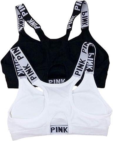 Pack 2 Bra el Confort Bra Deporte sin Costuras para Yoga/Fitness/Run/Ejercicio, Sujetador Deportivo para Mujeres, Negro Blanco: Amazon.es: Ropa y accesorios
