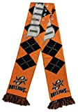 Major League Lacrosse Denver Outlaws Argyle Scarf, One Size, Orange