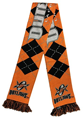 Major League Lacrosse Denver Outlaws Argyle Scarf, One Size, Orange by RUFFNECK